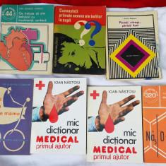LOT 7 CARTI DE MEDICINA DIVERSE .