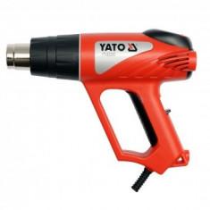 Suflanta cu aer cald si accesorii, termostat, in trusa, 2000W, Yato YT-82292
