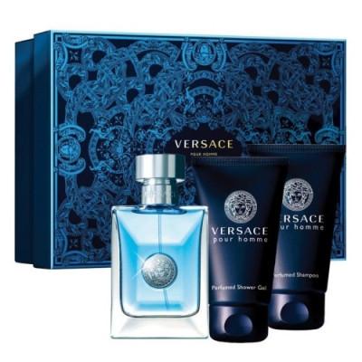 Seturi Barbati, Versace Pour Homme Apa de Toaleta 50 ml + After Shave Balsam 50 ml + Gel de duș 50 ml, 50 + 50 + 50ml foto