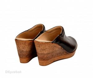 Saboti dama piele naturala Negri lucrati manual cod SB26 - Fabricati in Romania
