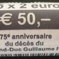 Fisic Monede 2 Euro Comemorative Luxemburg 2018