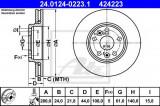Disc frana RENAULT MEGANE II (BM0/1, CM0/1) (2002 - 2011) ATE 24.0124-0223.1