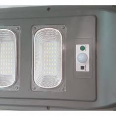 Proiector cu panou solar, 60W, senzor miscare si lumina