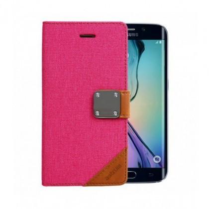 Husa Flip Astrum FC MATTE BOOK Samsung G925 Galaxy S6 EDGE Pink