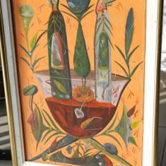 Tablou pictura Stefan Pelmus - Adam si Eva, Abstract, Ulei, Avangardism