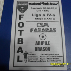 program       CSM  Fagaras  -  Aripile  Brasov