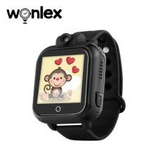Ceas Smartwatch Pentru Copii Wonlex GW1000 cu Functie Telefon, Localizare GPS, Camera, 3G, Pedometru, SOS, Android - Negru