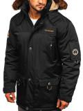 Cumpara ieftin Geacă de iarnă bărbați neagră Bolf 40014