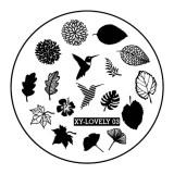 Cumpara ieftin Matrita Metalica Stampila Unghii XY-LOVELY03 - Nature