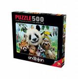 Cumpara ieftin Puzzle Anatolian - Zoo Selfie, 500 piese