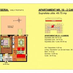 Apartament de vanzare semidecomandat ( 2 camere de 49.75 mp)