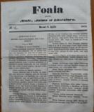 Ziarul Foaia pentru minte , inima si literatura , nr. 12 , 1862 , Samuel Klein
