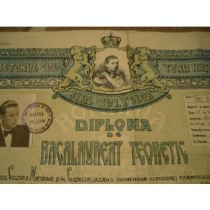 Diploma de bacalaureat teoretic, 1945