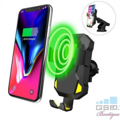 Incarcator Qi Wireless Tip Suport Telefon Auto iPhone 8 Incarcare Rapida, Apple