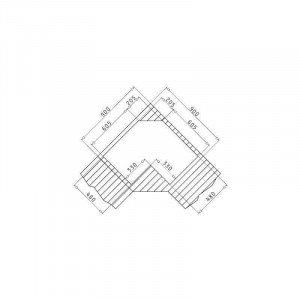 Chiuveta de bucatarie Pyramis Inox CELESTE 83x83 2B 1D ST SM