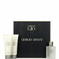 Set cadou Giorgio Armani Acqua di Gio (Apa de toaleta 50 ml + After shave balsam 75 ml + Gel de dus 75 ml), Pentru Barbati