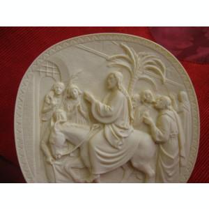 BRADEX TABLOU ALABASTRU 3 D TOSCANA ITALIA  ISUS - INTRAREA IN IERUSALIM