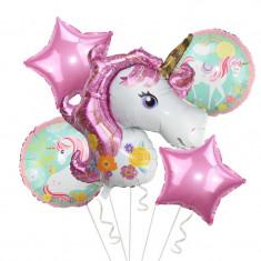 Set 5 baloane Unicorn magic superhape 110 cm