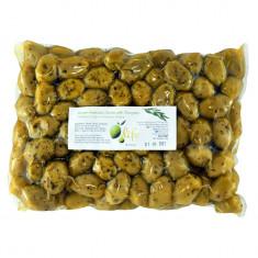 Măsline verzi Halkidiki cu oregano, 1kg