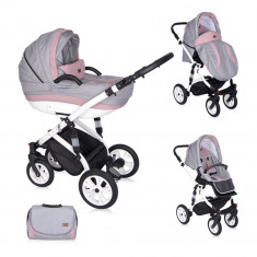 Carucior 3 in 1 Mia Air Pink Grey, Lorelli