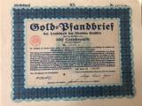 100 Goldmark Titlu de stat Germania 1930