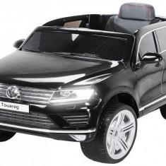 Kinderauto VW Touareg CU ROTI MOI 2x 35W 12V Negru