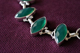 Bratara fina marcata Argint 925 cu pietre veritabile smaralde SAKOTA