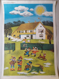 Afis scolar romanesc perioada comunista plansa didactica