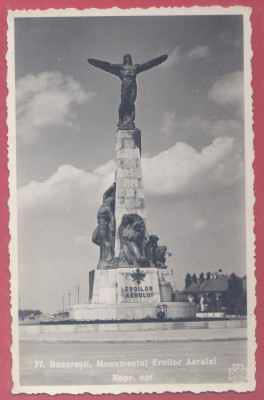77. Bucuresti, Monumentul Eroilor Aerului (Aviatorilor), reproducerea oprita foto