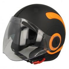 Casca deschisa NEXX SX.10 PLAIN culoare negru portocaliu marimea XL