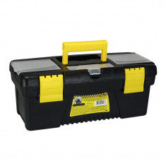 Cutie pentru depozitare scule Tools, 41.5 x 21 x 19 cm, Negru/Galben