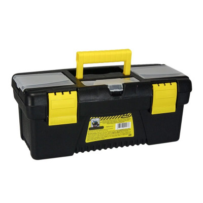 Cutie pentru depozitare scule Tools, 41.5 x 21 x 19 cm, Negru/Galben foto