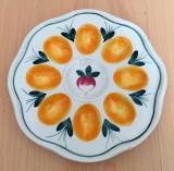Platou pentru oua / compartimentat - decorativ - portelan Bavaria - 8 oua