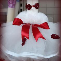 Lumanare de botez pentru fetite si baietei - ROSU2477