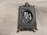 RAMA FOTO argint VECHE de colectie CU PICIOR manopera EXCEPTIONALA 1900 FRANTA