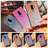 Husa Gradient cu sclipici pt Samsung Galaxy S9 / S9+ / Note 10 / Note 10+, Argintiu, Auriu, Mov, Negru, Roz, Alt material