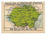 5219 - Harta ROMANIA MARE Cernauti Iasi Chisinau (5 / 7 cm) - mini postcard 1922