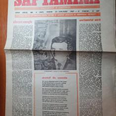 saptamana 23 ianuarie 1987- ziua de nastere a lui ceausescu,vibrant omagiu