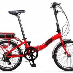 Bicicleta Electrica Pegas Camping Dinamic 7S, Pliabila, Roti 20inch, 7 Viteze, Autonomie 40 Km, Motor 220 W (Rosu)