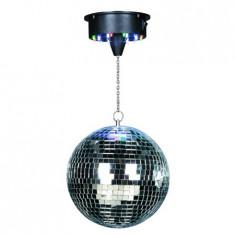 Glob disco 8 inch (20cm) cu motor /18 led-uri rgb