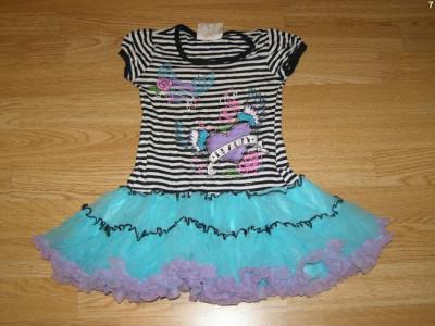 costum carnaval serbare rochie dans pentru copii de 3-4 ani foto