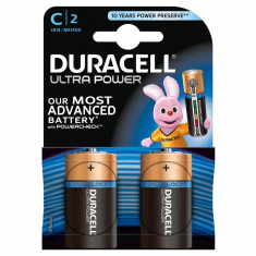 Set 2 baterii Duracell Ultra power, tip C