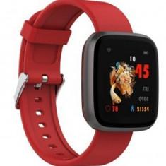 Ceas Smartwatch iUni H5, Touchscreen, Bluetooth, Notificari, Pedometru, Red