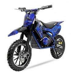 Mini motocicleta electrica NITRO Eco Serval 500W 10 10 Albastru