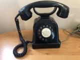 Telefon fix vechi stil vintage,francez,din ebonita,cu disc