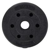 Disc cauciucat greutate pentru gantere, 1.25kg, negru, Springos