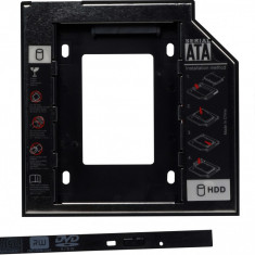 Rack HDD Caddy pentru laptop grosime 12.7mm interfata Sata la Sata