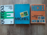 Lot 3 buc catalog filatelic timbre Europa 1967 Michel 1977 Germania 1985