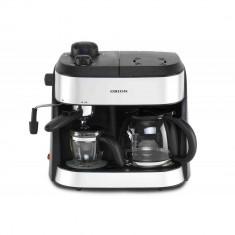 Espressor si cafetiera Orion OCCM-4616, 1800W, 1,25l, Cafea macinata, Negru/ Argintiu