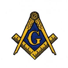 Simbol Masonic Autoadeziv din Material Textil G Arm Patch MM654